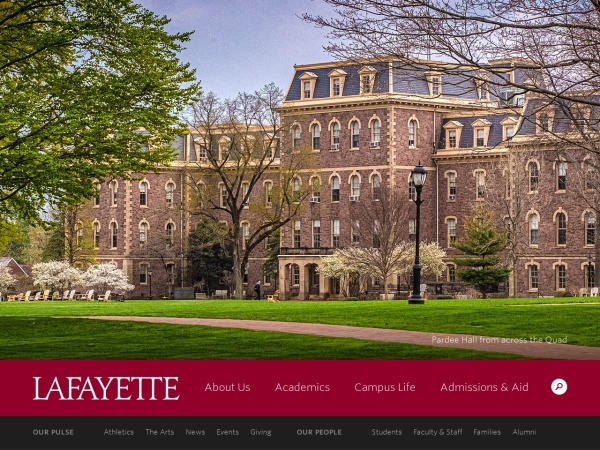 Screenshot of www.lafayette.edu