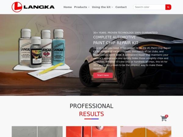 Screenshot of www.langka.com