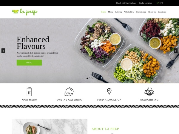 Screenshot of www.laprep.com