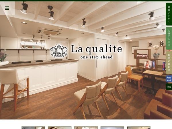 Screenshot of www.laqualite.jp