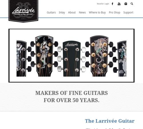 Screenshot of www.larrivee.com