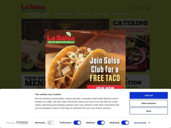 Screenshot of www.lasalsa.com