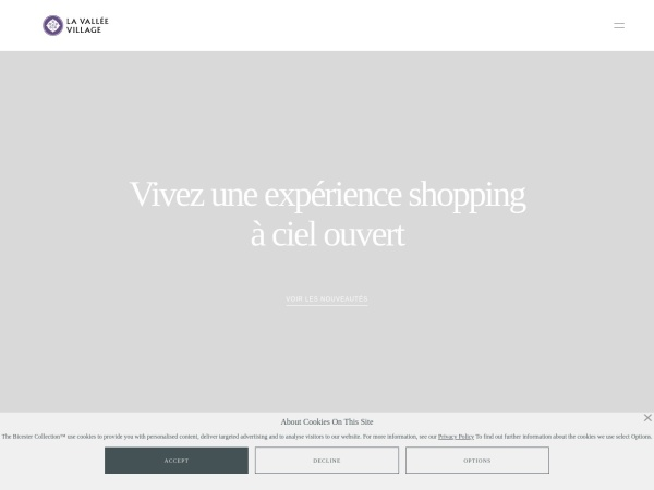 Screenshot of www.lavalleevillage.com