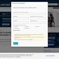 Screenshot of www.law360.com