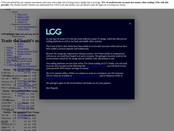 Screenshot of www.lcg.com