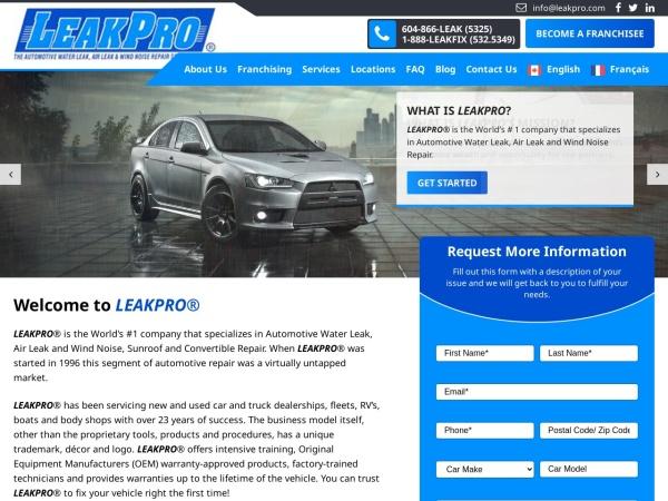Screenshot of www.leakpro.com