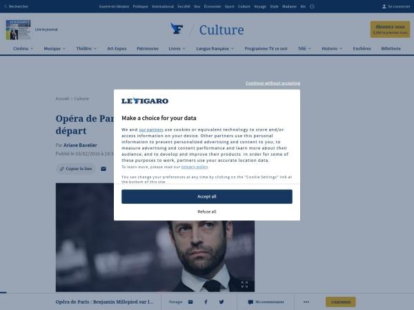 http://www.lefigaro.fr/culture/2016/02/03/03004-20160203ARTFIG00344-opera-de-paris-benjamin-millepied-sur-le-depart.php