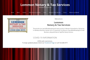 Screenshot of www.lemmonnotary-clericalservices.com