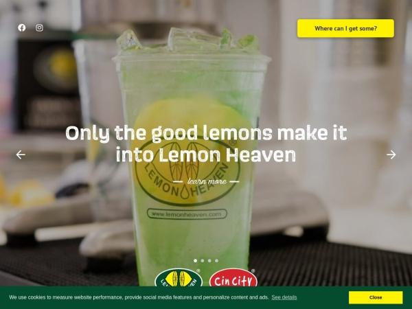 Screenshot of www.lemonheaven.com
