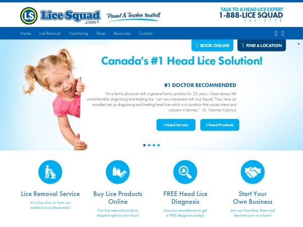 Screenshot of www.licesquad.com