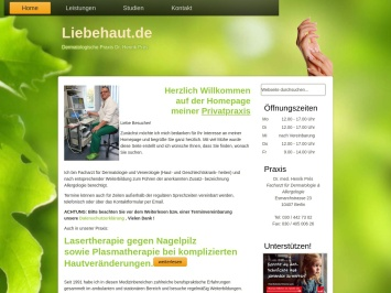 Screenshot von www.liebehaut.de