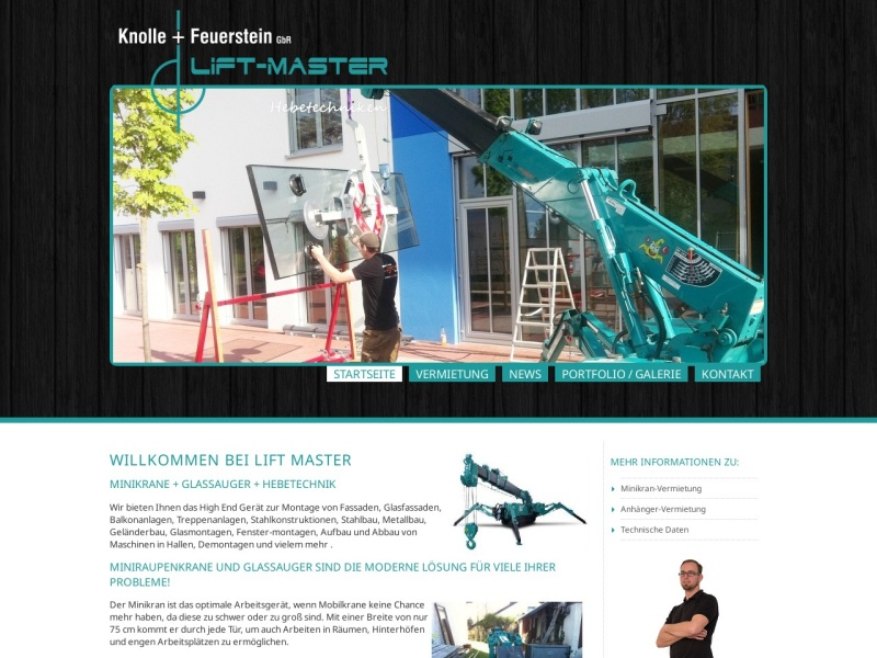 Screenshot von www.lift-master.de