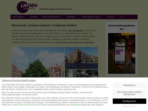 Screenshot von www.linden-entdecken.de