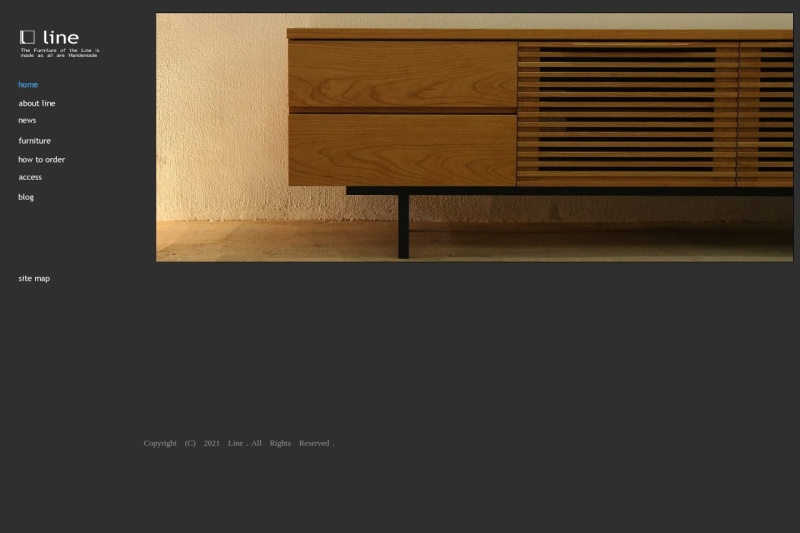 Screenshot of www.line-furniture.jp