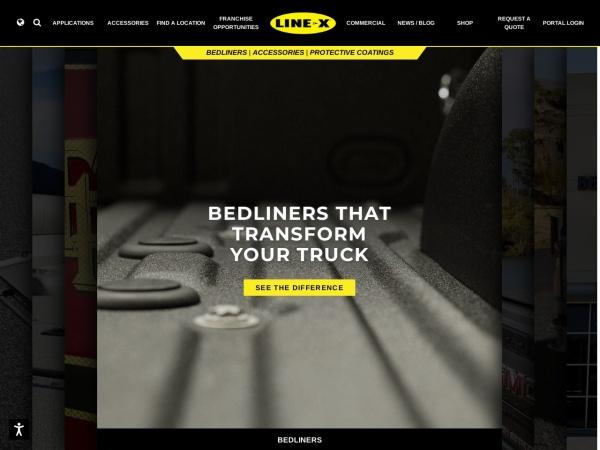 Screenshot of www.line-x.ca