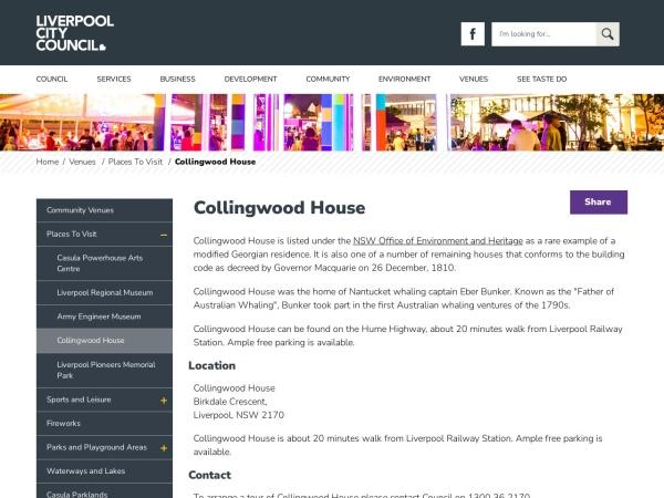 Screenshot of www.liverpool.nsw.gov.au