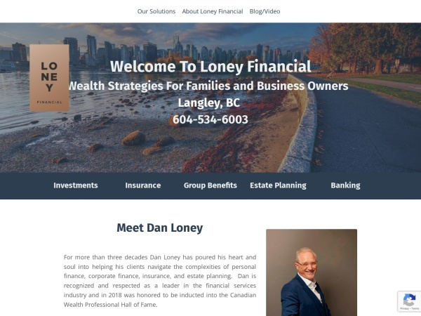 Screenshot of www.loneyfinancial.com