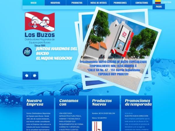 Captura de pantalla de www.losbuzosdistribuidores.net
