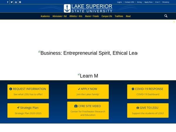 Screenshot of www.lssu.edu