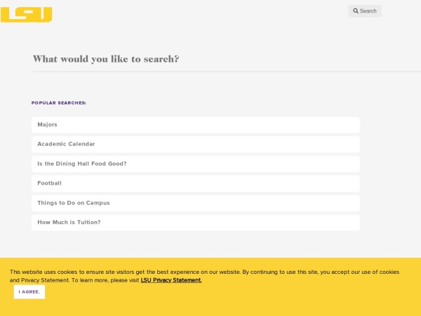 Screenshot of www.lsu.edu