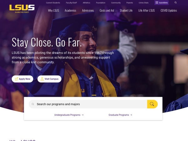 Screenshot of www.lsus.edu