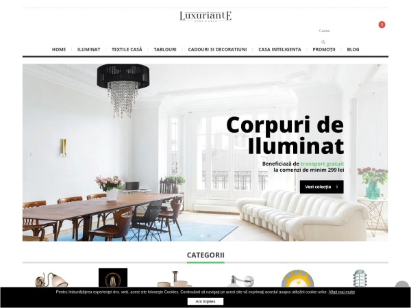 Screenshot of www.luxuriante.ro