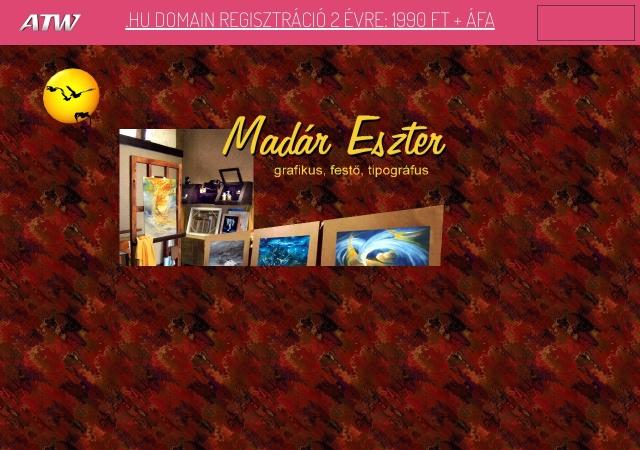 Screenshot of www.madareszter.atw.hu
