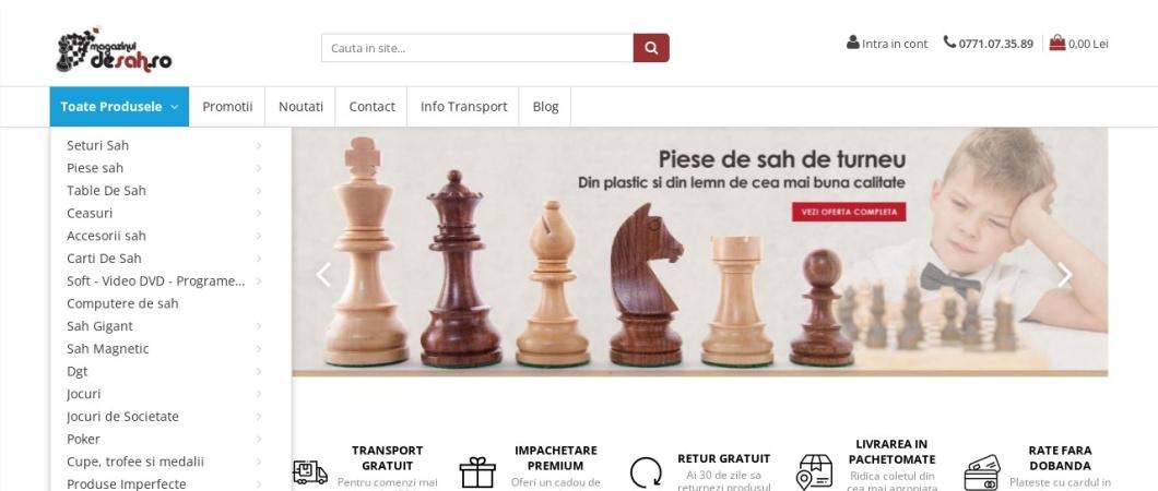 Screenshot of www.magazinuldesah.ro