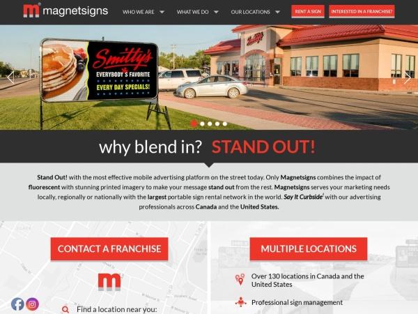 Screenshot of www.magnetsigns.com