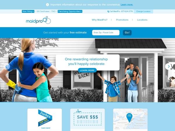 Screenshot of www.maidpro.com