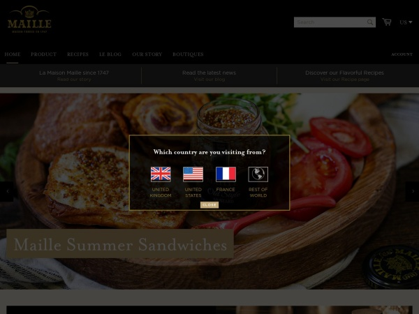 Screenshot of www.maille.com
