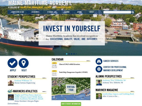 Screenshot of www.mainemaritime.edu