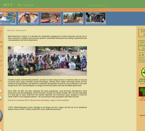 Screenshot of www.malifolkecenter.org