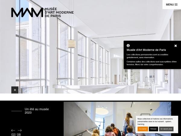 Screenshot of www.mam.paris.fr
