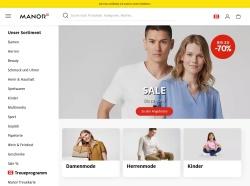 Screenshot von www.manor.ch