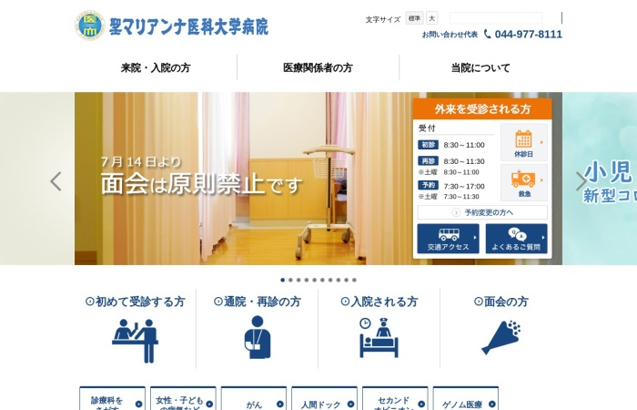 Screenshot of www.marianna-u.ac.jp