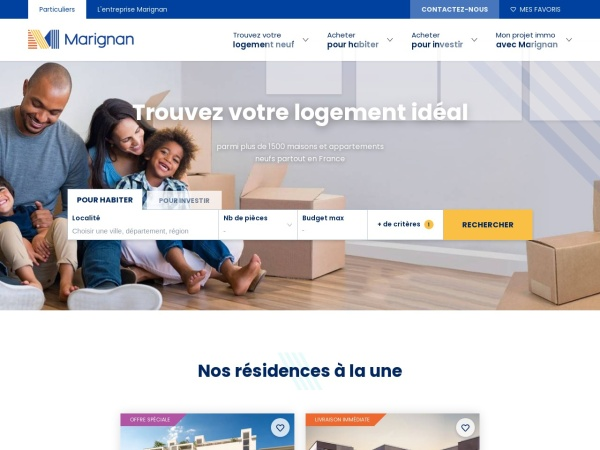 Screenshot of www.marignan-immobilier.com