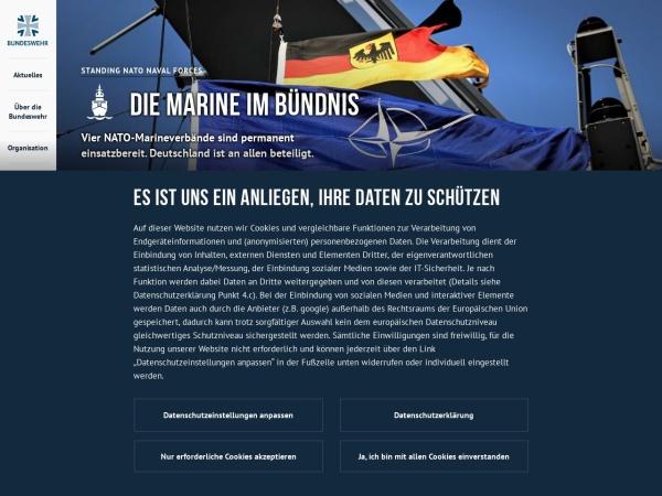 Screenshot of www.marine.de