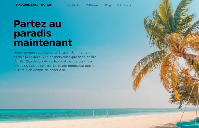 Screenshot of www.mascareignes-trapeze.com