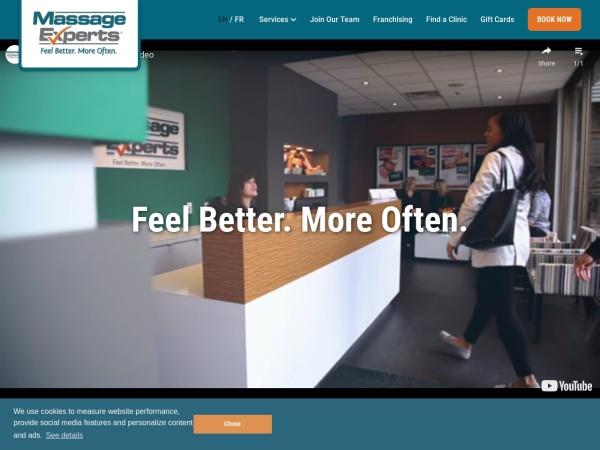 Screenshot of www.massageexperts.ca
