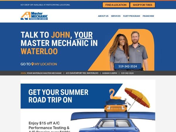 Screenshot of www.mastermechanic.ca