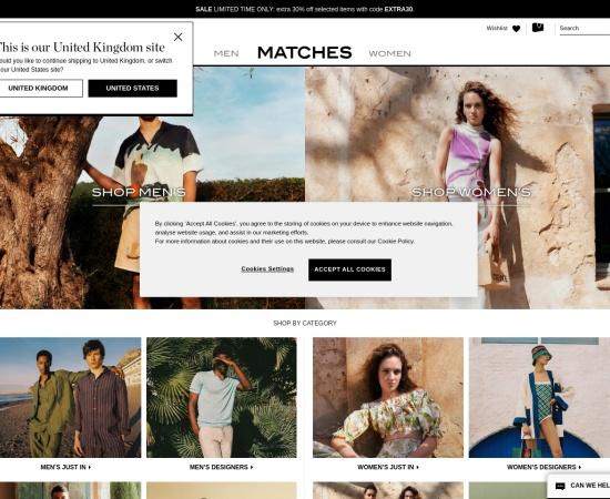 Screenshot of www.matchesfashion.com