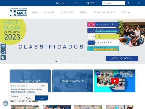 Screenshot of www.maua.br