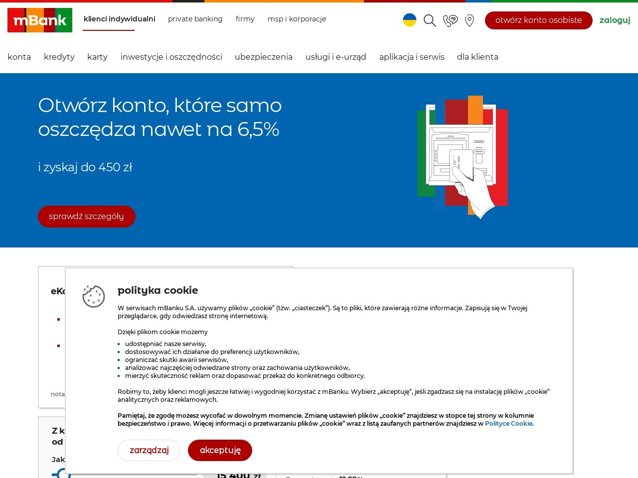 Screenshot of www.mbank.pl
