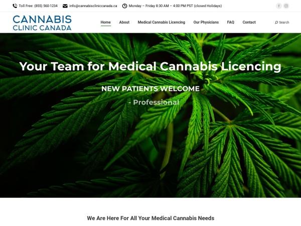 Screenshot of www.medicalmarijuanaclinic.ca