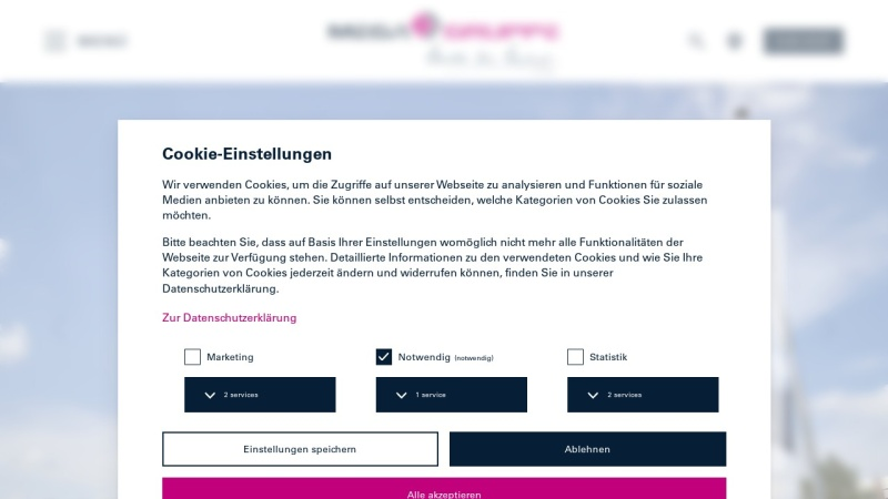 Screenshot von www.mega.de