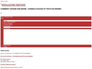 Si vous souhaitez faire l'acquisition d'un nouveau drone, aller consulter le site Meilleurs-drones.com pour découvrir les meilleurs drones 2020.