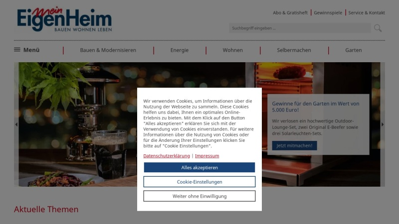 Screenshot of www.mein-eigenheim.de