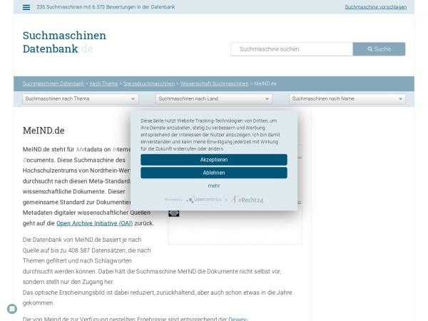 Suchmaschine MeIND.de
