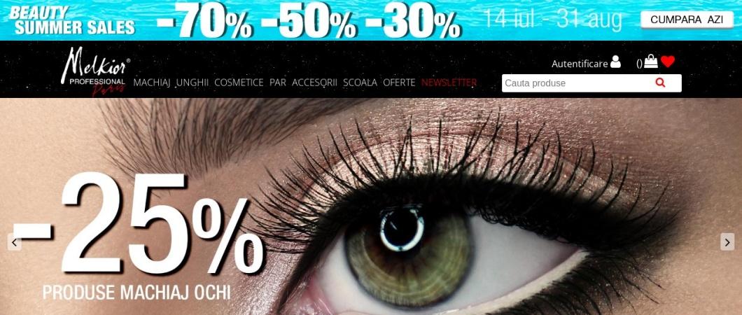 Screenshot of www.melkior.ro